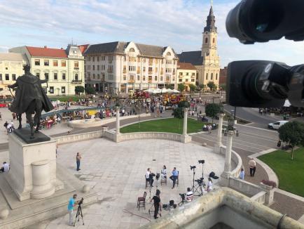 Emisiune TVR, transmisă în direct din centrul Oradiei. Printre invitaţi, primarul Birta şi folcloriştii ansamblului Crişana, care va fi desfiinţat (VIDEO)