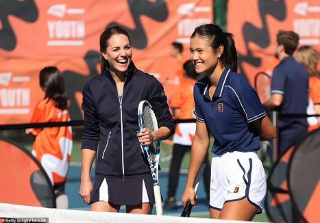 Emma Răducanu, meci de tenis cuDucesa de Cambridge (FOTO / VIDEO)