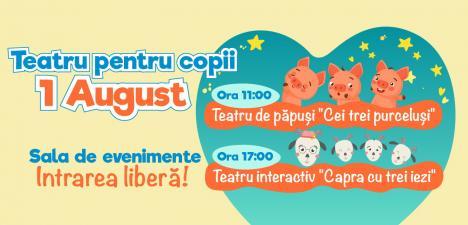 Teatru pentru copii: 'Cei trei purceluşi' şi 'Capra cu trei iezi' vin la ERA Park Oradea!
