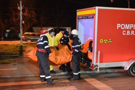 De ce au sunat sirenele pe Şoseaua Borşului: 30 de muncitori, 'salvaţi' de pompieri, într-un exerciţiu de amploare al ISU Crişana (FOTO / VIDEO)