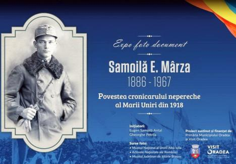 Fotografiile făcute de Samuil Mârza la Marea Unire din 1918, expuse în Piața Unirii din Oradea
