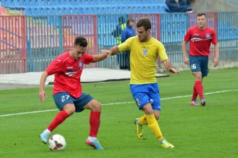 Prima victorie: FC Bihor a învins cu 1-0 FC Caransebeş şi a părăsit ultima poziţie în clasament (FOTO)