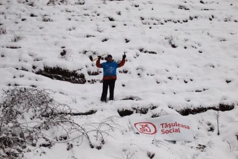 """Au """"împădurit"""" Pietroasa, plantând 10.000 de puieţi de molid (FOTO)"""