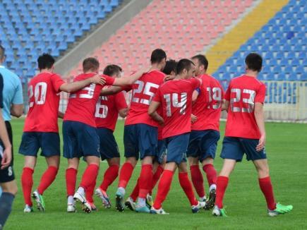 FC Bihor a remizat cu CS Mioveni, după ce a condus cu 1-0