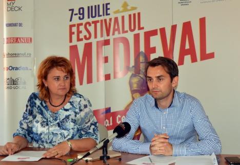 Festivalul medieval al Cetăţii: Trei zile cu iz de Ev Mediu, în fortăreaţa orădeană