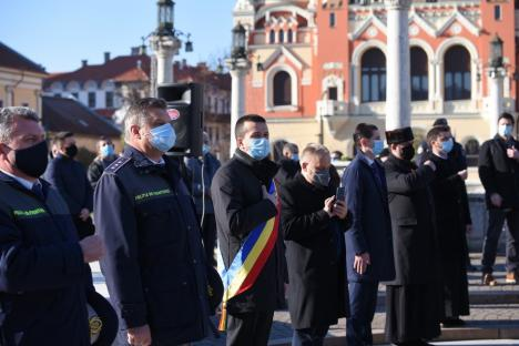 Festivități de 1 Decembrie fără defilare și fasole la Oradea. Vezi care a fost atmosfera! (FOTO / VIDEO)