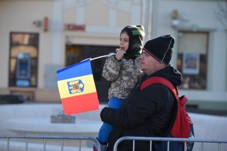 Sărbătoare însorită: la festivitățile dedicate zilei de 24 ianuarie au fost prezenți peste 150 de orădeni și politicieni (FOTO / VIDEO)