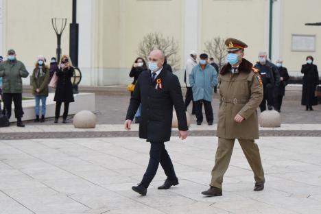 """Ca-n pandemie. """"Unirea Mică"""", sărbătorită la Oradea fără public și Hora Unirii (FOTO / VIDEO)"""
