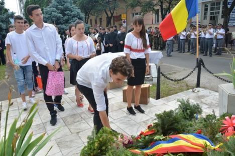 Zeci de orădeni l-au comemorat pe Avram Iancu în Parcul Traian (FOTO)