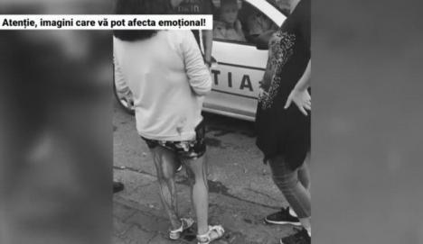 Un nou caz şocant: Doi poliţişti din Galaţi ignoră o fetiţă plină de sânge (VIDEO)