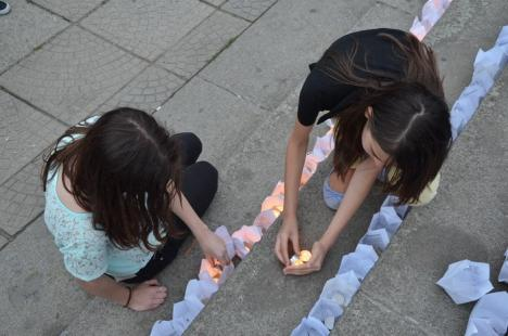 """Mii de """"licurici"""" au înveselit Parcul 1 Decembrie. Festivalul luminii i-a scos pe orădeni din case (FOTO)"""