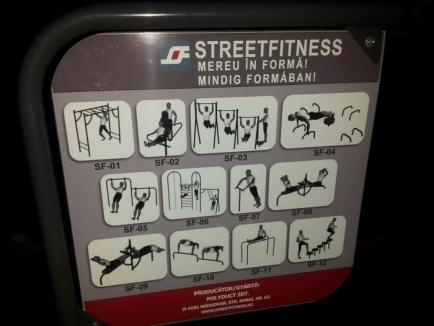 Orădenii sunt îndemnaţi să facă mişcare în trei noi zone de fitness în aer liber
