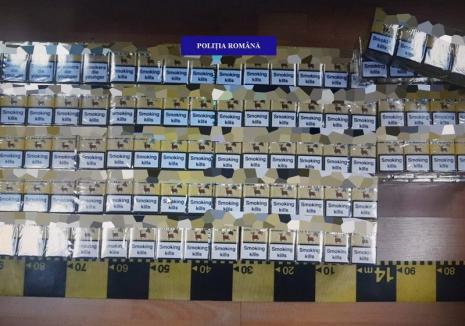 Cum a fost 'capcanat' un bihorean bănuit de contrabandă cu ţigări. Poliţiştii l-au prins în flagrant, i-au confiscat 'marfa', dar şi banii din vânzări
