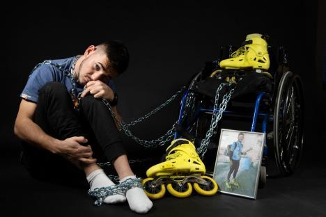 Florin, bihoreanul care vrea să participe la Jocurile Paralimpice, mai are nevoie de 2.000 de euro pentru a-și cumpăra un handbike