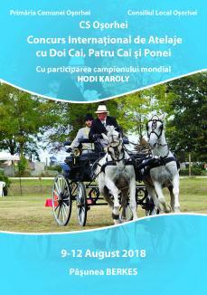Concurs internaţional de atelaje, în weekend, la Oşorhei. Între participanţi, campionul mondial Hodi Karoly