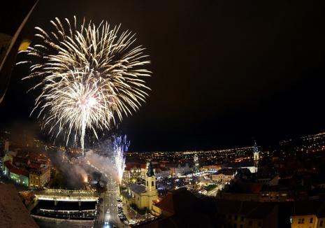 Cinci guri de foc! Revelion cu jocuri de artificii spectaculoase, în Oradea