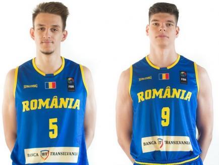 Tudor Fometescu și Edward Petrescu, jucători ai echipei de baschet a CSM, participă cu echipa naţională la CE U20 la baschet din Portugalia