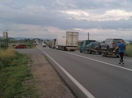 Ziua accidentelor: Încă un accident cu victime în Bihor, pe DN 1, la intrarea în Săbolciu