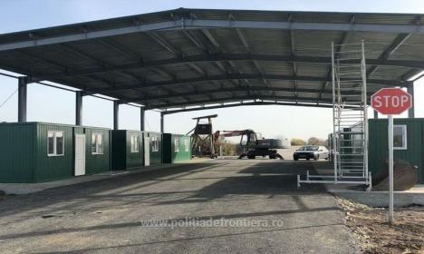 S-a deschis un punct de trecere a frontierei, în Bihor, pentru camioanele ce duc pietriş pentru autostrada din Ungaria (FOTO)