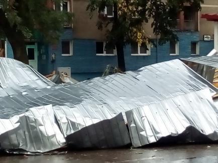 Bilanţ ISU Crişana, după furtună: zeci de persoane au fost rănite în Bihor. Cursuri suspendate, luni, în 18 școli (FOTO / VIDEO)