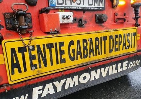 Atenție, șoferi! Un nou transport cu gabarit depășit pe șoselele din Bihor