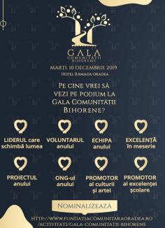Propuneţi premianţi! Fundația Comunitară Oradea aşteaptă nominalizări pentru Gala Comunității Bihorene