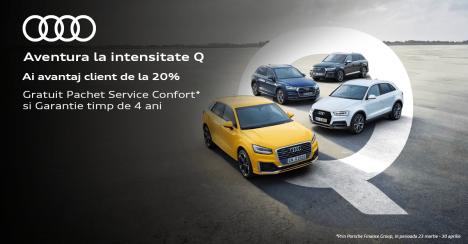 D&C Oradea: 20% avantaj client pentru oricare model din gama Q de la Audi
