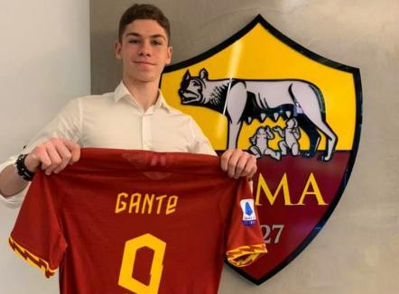 Tânărul fotbalist orădean Patrick Gânţe a fost transferat de AS Roma