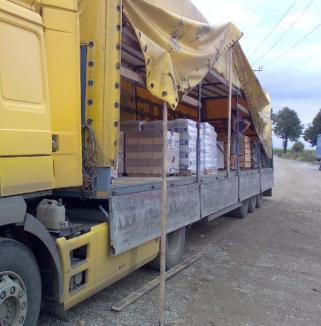 Transport de cartofi pentru o firmă fantomă, confiscat lângă Vama Borş