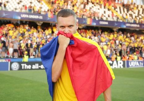 Atacantul bihorean George Puşcaş, singurul român ales în echipa ideală a Campionatului European U21(VIDEO)