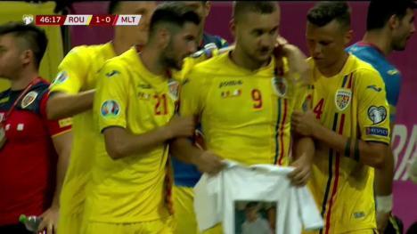 'Odihneşte-te în pace!': George Puşcaş i-a dedicat golul din meciul cu Malta orădeanului Darius Bala, care a murit la 18 ani (FOTO)