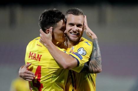 România a învins Malta cu 4-0. Bihoreanul George Puşcaş a marcat două goluri! (FOTO)