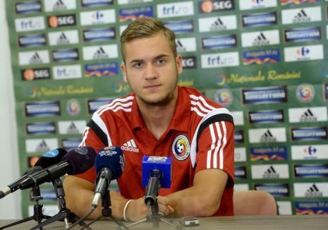 Unicul gol al naţionalei de tineret, marcat de orădeanul George Puşcaş