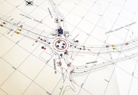 Restricţii pe centura Oradea. Constructorii încep joi dezafectarea giraţiei din intersecţia cu strada Universităţii