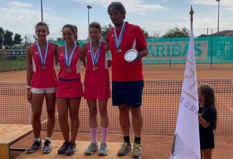 Giulia Popa a cucerit bronzul cu echipa României la Campionatul European de Tenis