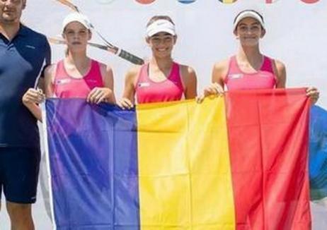 Orădeanca Giulia Popa a ajutat echipa U12 a României să se califice la campionatul de tenis TE Nations Challenge