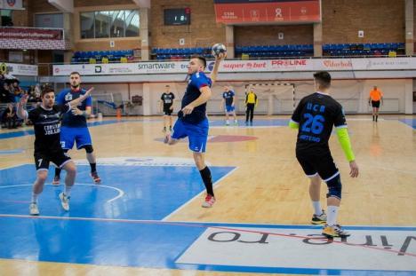 Handbal masculin: Victorie clară pentru CSM Oradea în primul joc oficial din 2020 (FOTO)