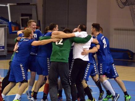 Handbaliştii orădeni s-au impus în derby-ul cu CSM Satu Mare
