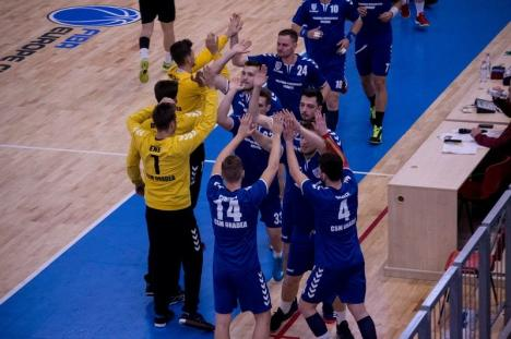 Victorie la două goluri în derby: 26-24 pentru CSM Oradea în faţa celor de la CS Minaur II Baia Mare
