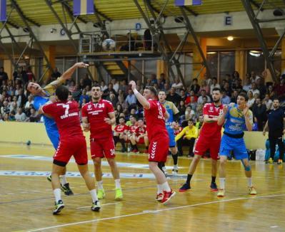 Al doilea eșec pentru handbaliștii de la CSM Oradea în actuala ediție de campionat
