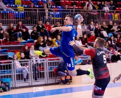 CSM Oradea a câștigat cu 31-27 ultimul meci oficial din acest an, în fața celor de la HC Sibiu
