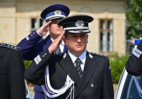 Joc de scenă: Comisarul şef Alin Haniş a luat examenul pentru şefia Poliţiei Bihor, fără contracandidat