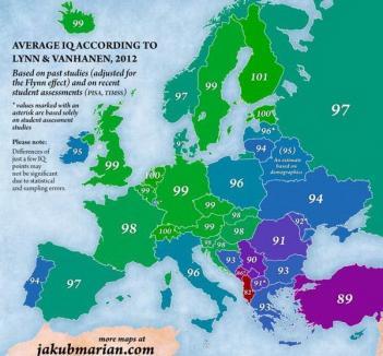 Românii, printre ultimii pe harta IQ-ului în Europa