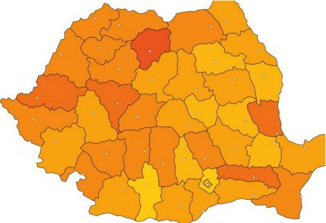 Tot mai cald: Temperatura medie din Bihor a crescut cu 2,79 grade în ultimii 60 de ani