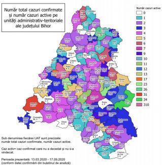 Covid-19: Vezi câte cazuri active sunt în fiecare oraş şi comună din Bihor!