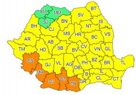 Cod galben de caniculă, miercuri şi joi în Bihor. În sudul ţării e cod portocaliu!