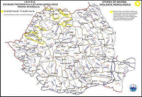 Pericol de inundaţii în Bihor. Sfaturile pompierilor