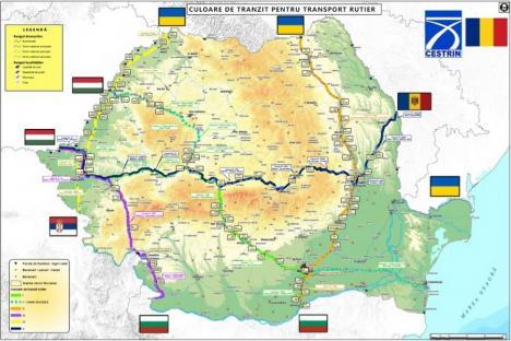 5 culoare pentru transportul de marfă prin România: Două trec prin Bihor