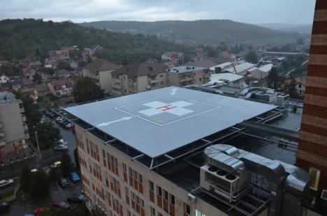 Heliportul Spitalului Judeţean din Oradea, certificat de Autoritatea Aeronautică Civilă Română