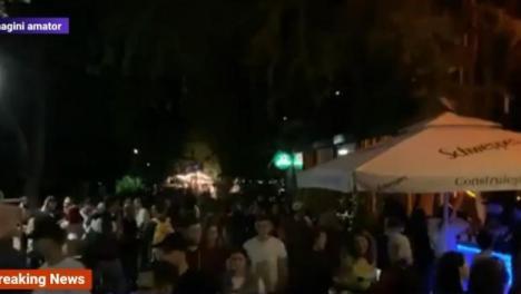 Petrecere fără griji: Sute de oameni au chefuit în Parcul Herăstrău, înghesuiţi şi fără măşti (VIDEO)